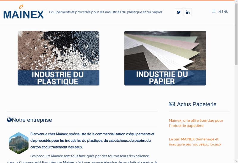 Capture d'écran du site de Mainex