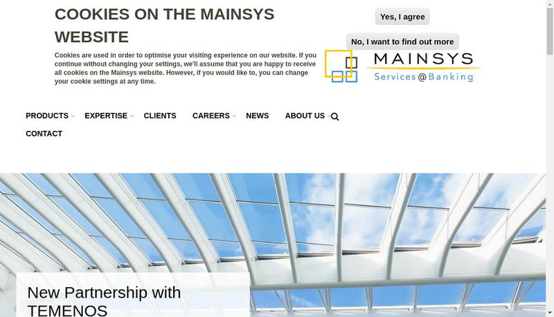 Capture d'écran du site de Mainsys France