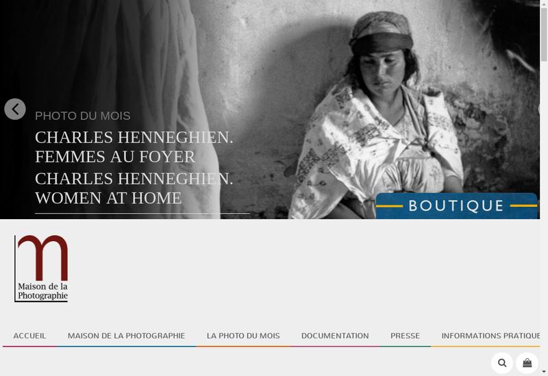 Capture d'écran du site de Maison de la Photographie