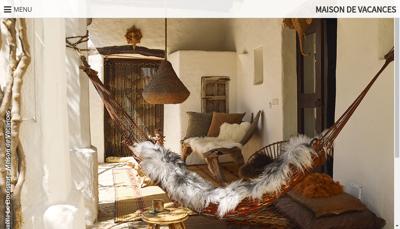 Capture d'écran du site de Maison de Vacances