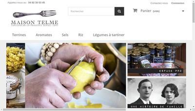 Site internet de Maison Telme