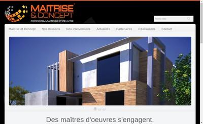 Site internet de Maitrise & Concept