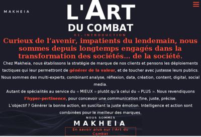 Capture d'écran du site de Makheia Lfi