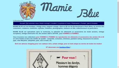 Capture d'écran du site de Mamie Blue