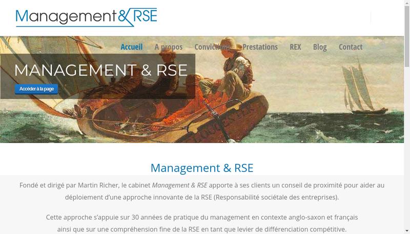 Capture d'écran du site de Management & Rse