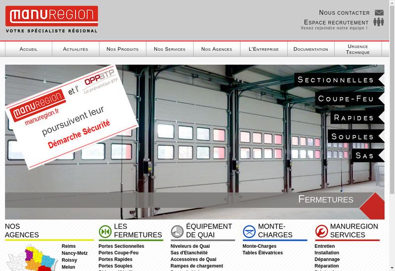 Capture d'écran du site de Manuregion