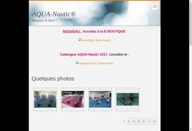 Capture d'écran du site de Aqua Nautic