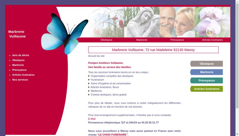 Capture d'écran du site de Wassy Fleurs