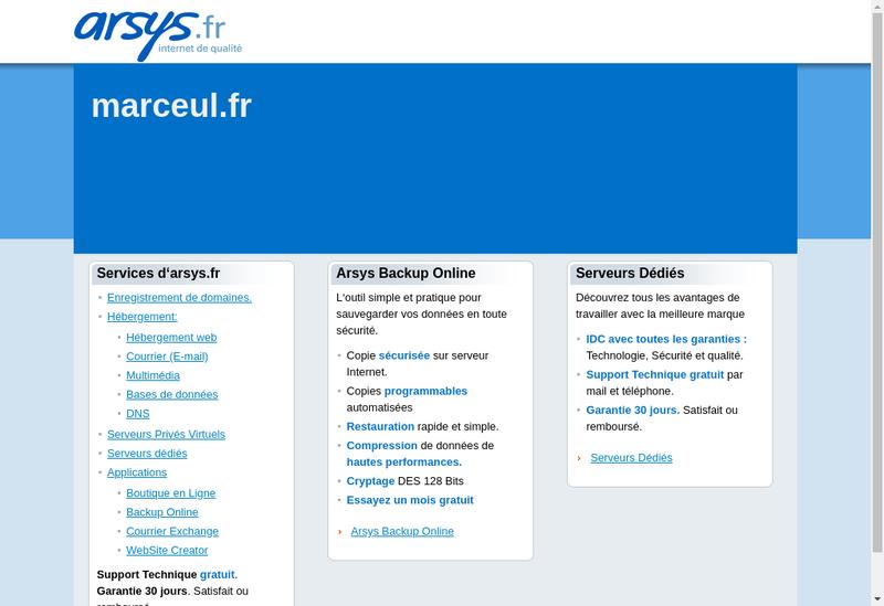 Capture d'écran du site de Marceul SA