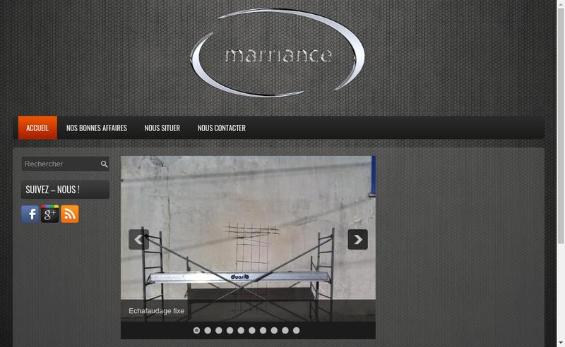 Capture d'écran du site de Marriance