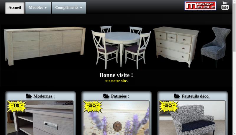 Capture d'écran du site de Massif Meuble