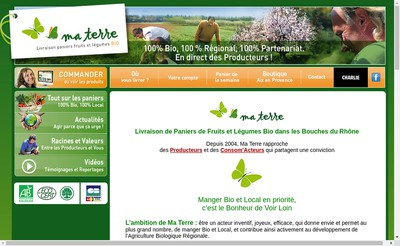Site internet de Ma Terre