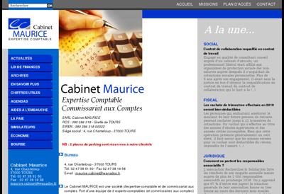 Capture d'écran du site de Cabinet Maurice