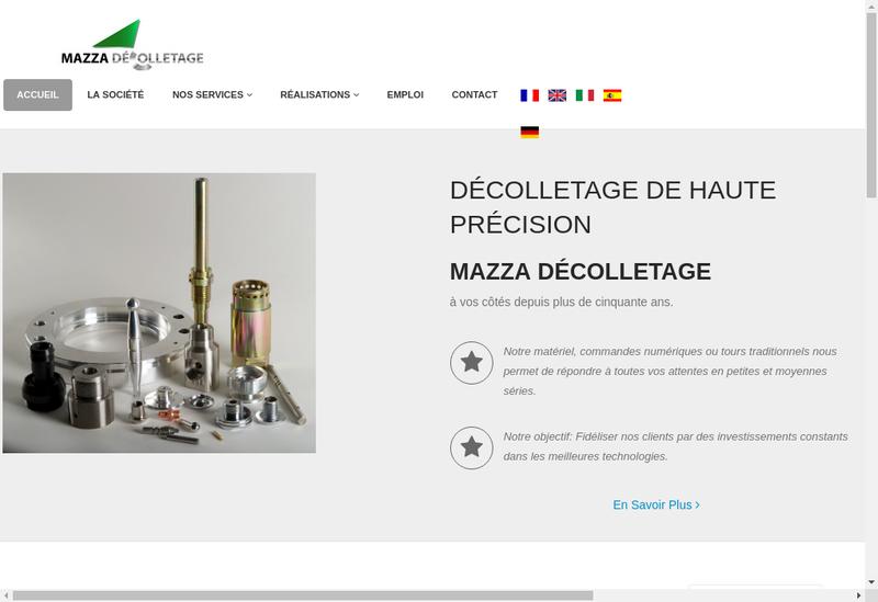 Capture d'écran du site de Mazza Decolletage