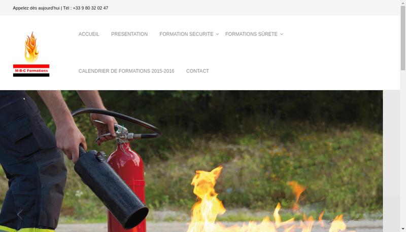 Capture d'écran du site de Mbc Formations