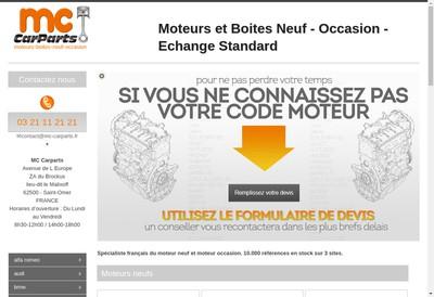 Site internet de Mc Car Parts