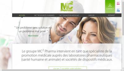 Capture d'écran du site de Mc2 Pharma