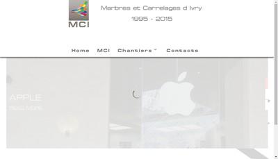 Site internet de Mci Marbres et Carrelages d'Ivry
