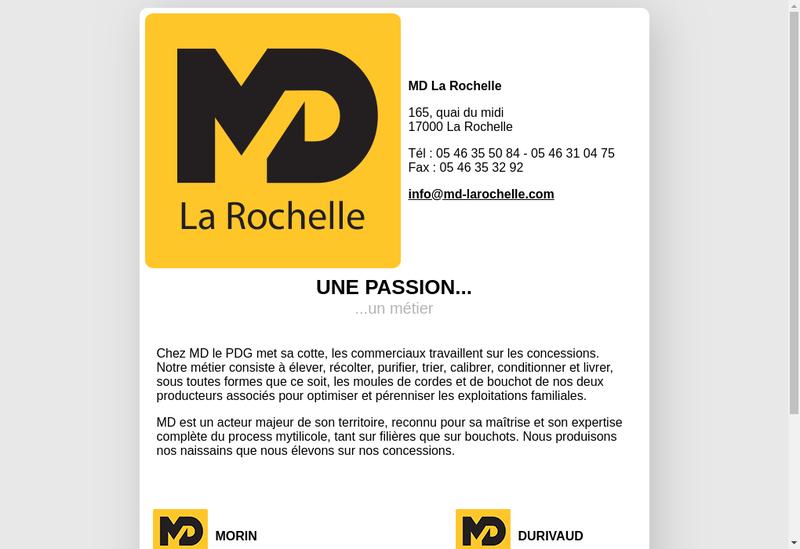Capture d'écran du site de MD la Rochelle