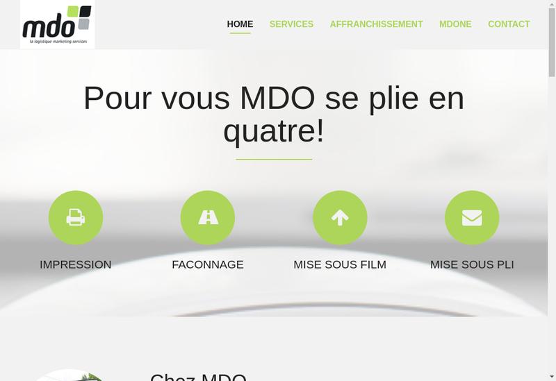 Capture d'écran du site de MDO
