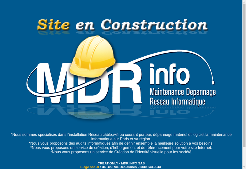 Capture d'écran du site de Nba Consultants. Mdr Info. See Dream