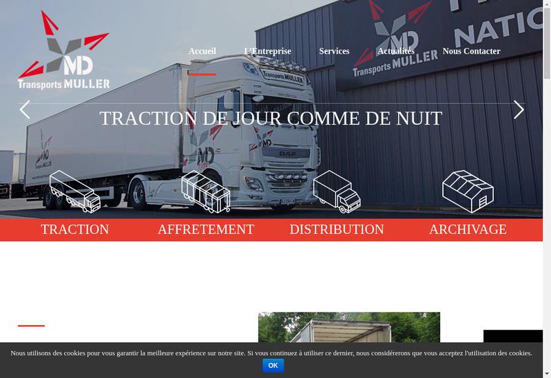 Capture d'écran du site de MD Transports