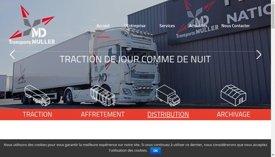Site internet de M&D Transports