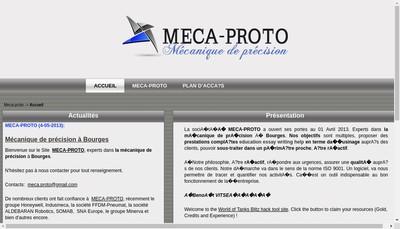 Site internet de Meca-Proto