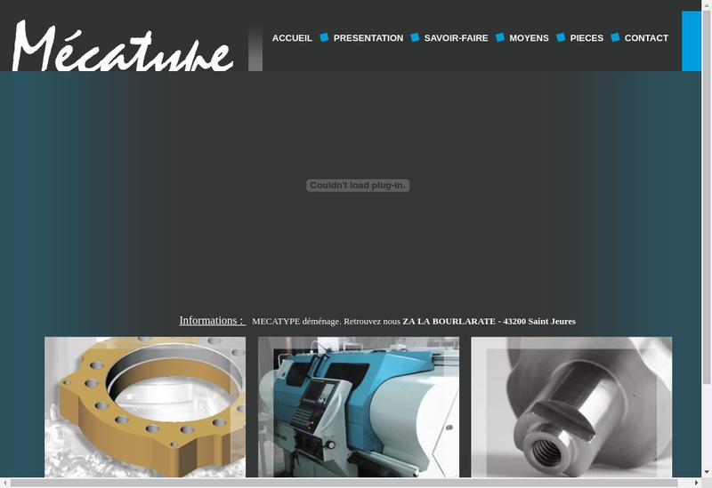 Capture d'écran du site de Mecatype