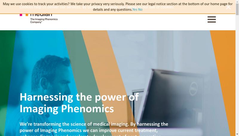 Capture d'écran du site de Median Technologies
