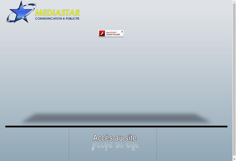 Capture d'écran du site de Media Star Creation Publicite