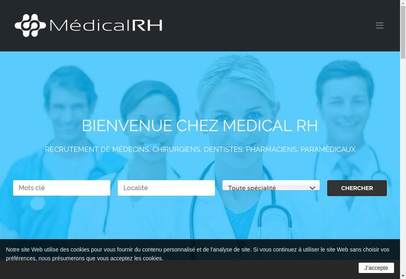 Capture d'écran du site de Medical Rh