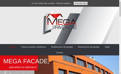 Site internet de Mega-Facade