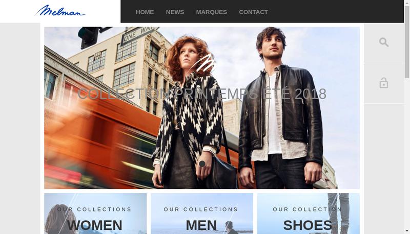 Capture d'écran du site de Melman Diffusion