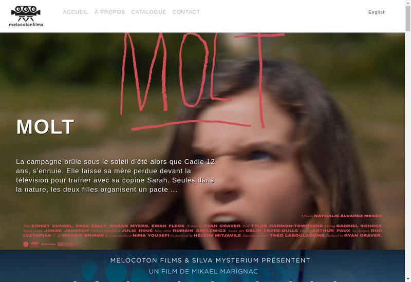 Capture d'écran du site de Melocoton Films