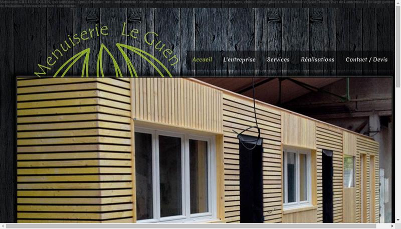 Capture d'écran du site de Ugo Kerdraon