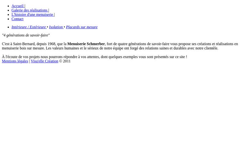 Capture d'écran du site de Ets Roland Schmerber Menuis Eben
