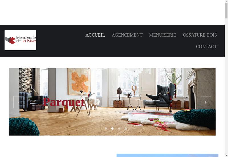 Capture d'écran du site de Menuiserie de la Nive