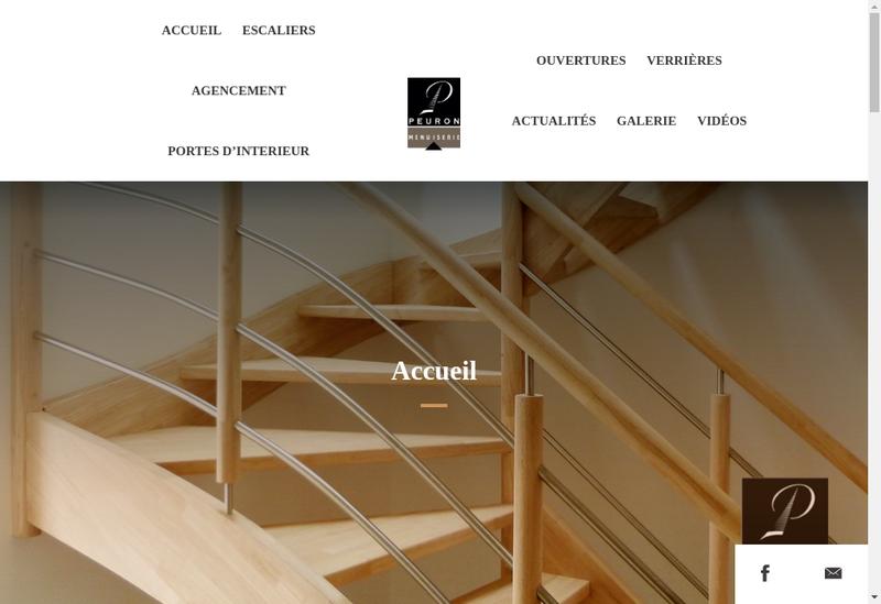 Capture d'écran du site de Yannick Peuron