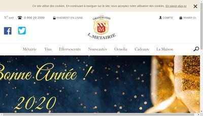 Site internet de Firme Luc Duvallon - Vin 24 - Wein 24 de