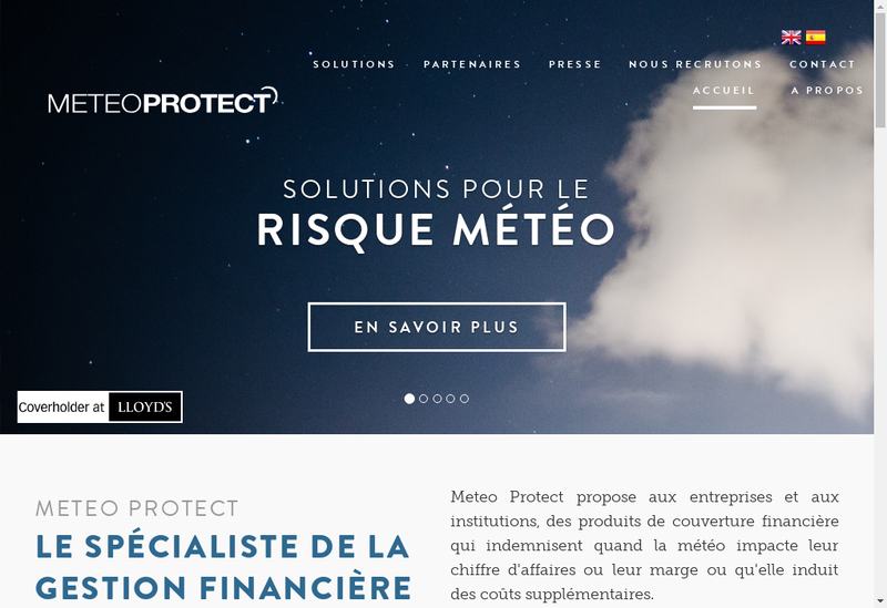 Capture d'écran du site de Meteo Protect SAS