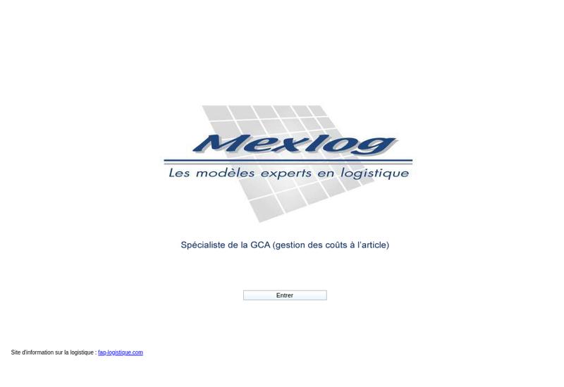 Capture d'écran du site de Mexlog