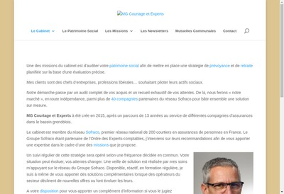 Site internet de Mg Courtage et Experts - Sofraco