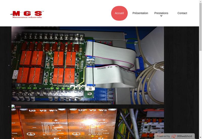 Capture d'écran du site de Mgs Maintenance Industrielle