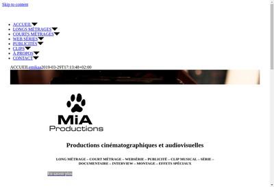 Site internet de Mia Productions