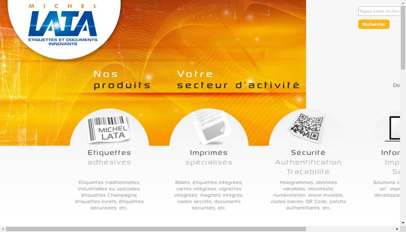 Capture d'écran du site de Michel Lata