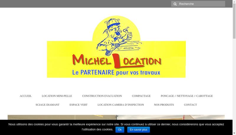 Capture d'écran du site de Michel Location
