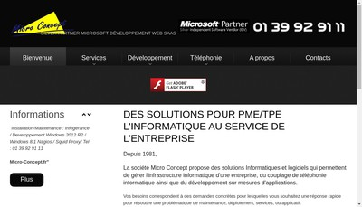 Site internet de Micro Concept
