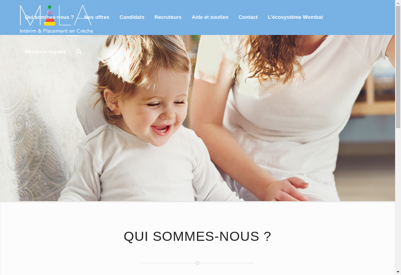 Capture d'écran du site de Mila Interim