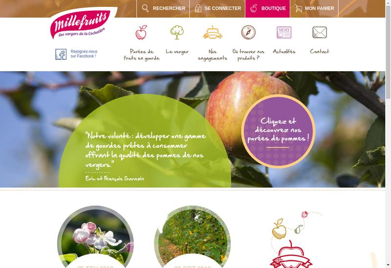 Capture d'écran du site de Flash Fruits